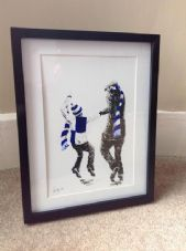 Bristol Rovers 'My First Match' - original artwork in 14'' x 11''frame